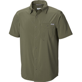Columbia Triple Canyon Solid Short Sleeve Shirt Men Cypress